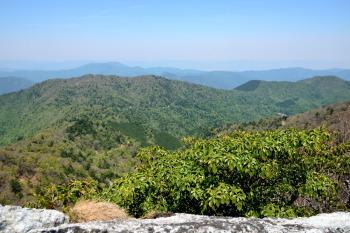 岩場から北側の眺め
