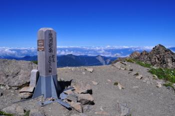 荒川前岳の山頂(標高3068m)