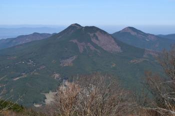正面が大洞山、右奥が尼ヶ岳