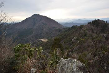 北壁から見た三嶽