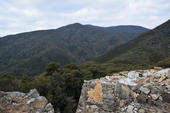 清水山から見た有明山