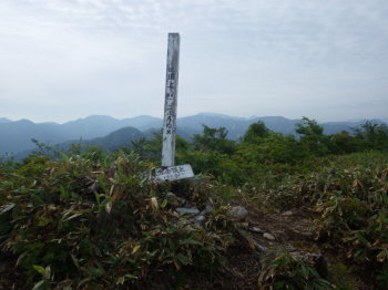 口三方岳の山頂(標高1269.4m)