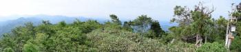 口三方岳のパノラマです。その1