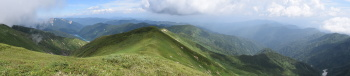 別山のパノラマ