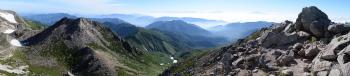 白山のパノラマです。その2
