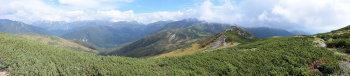 赤木岳のパノラマ