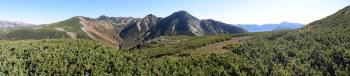鷲羽岳の遠景パノラマ