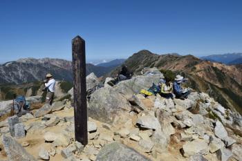 鷲羽岳の山頂(標高2924.4m)
