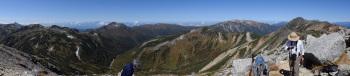 鷲羽岳のパノラマです。その1