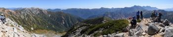 鷲羽岳のパノラマです。その2
