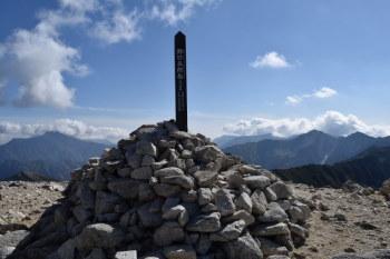 野口五郎岳の山頂(標高2924.5m)