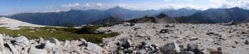 野口五郎岳のパノラマです。その1
