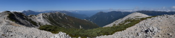 野口五郎岳のパノラマです。その2