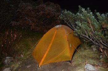 三俣山荘のテント