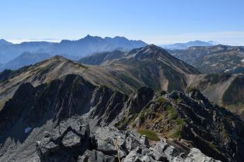 水晶岳の眺めです。その1