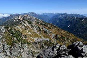 水晶岳の眺めです。その2