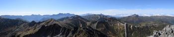 水晶岳のパノラマ