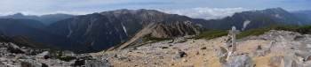 赤牛岳のパノラマです。その1