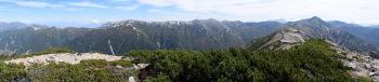 赤牛岳のパノラマです。その2