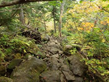 岩石の急坂