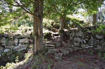 本丸への石垣