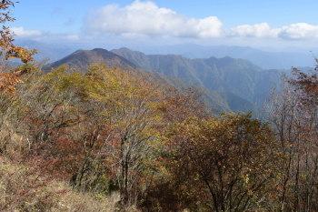 蕎麦粒山の眺め