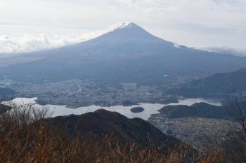 山頂南の展望所からの眺め