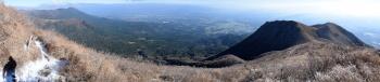 標高1400m地点のパノラマ