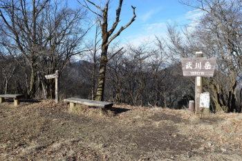 武川岳の山頂(標高1052.7m)