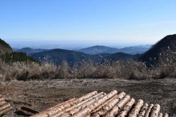 笠山峠の眺め