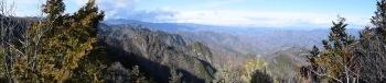 大山のパノラマ