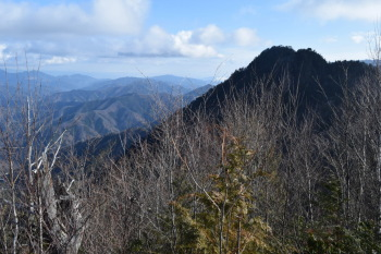 天丸山から見た大山
