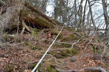 ロープが連続