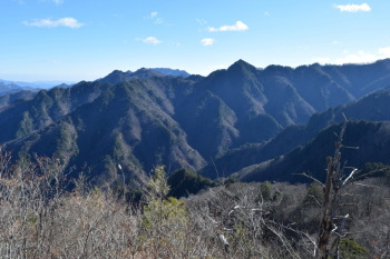 三笠山から見た天丸山
