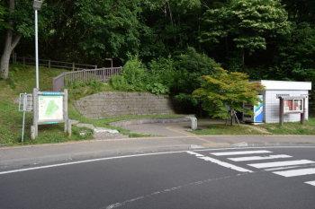 旭山記念公園駐車場登山