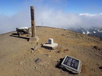 旭岳の山頂(標高2290.9m)