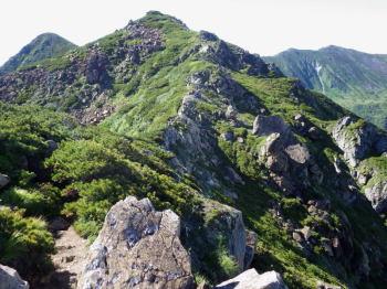 岩場の稜線