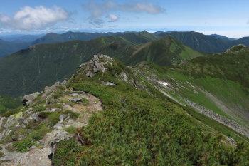 幌尻岳の眺めです。その1