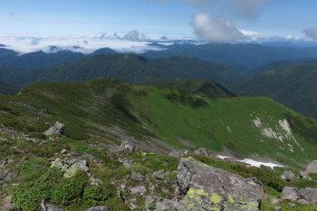 幌尻岳の眺めです。その2