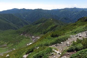 幌尻岳の眺めです。その3
