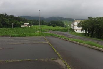 百沢スキー場の駐車場