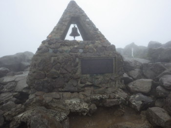 岩木山の山頂(標高1624.6m)