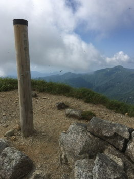大日岳の山頂(標高2128m)