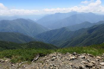 上河内岳の眺めです。その2