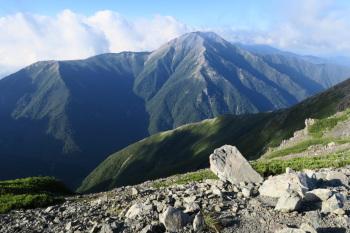 前聖岳の眺め