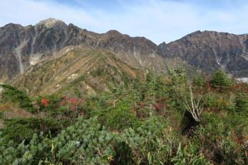 左が五竜岳、右が唐松岳