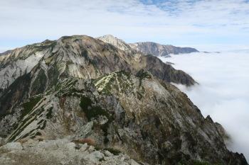 唐松岳の眺めです。その1