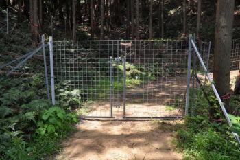 獣よけのゲート